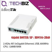 RB951G-2HnD Mikrotik 5-Port GigabitGigabit Wifi SOHO Router