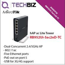 RB952Ui-5ac2nD-TC Mikrotik WiFi Router hAP AC Lite Tower