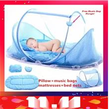 4 PCS Set Cotton Portable Newborn Baby Mickey Design Bed Mosquito Net