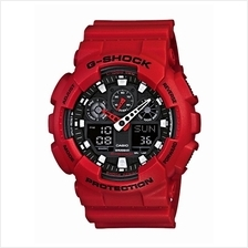 Casio G-Shock Red Black All-Matte GA-100B-4ADR