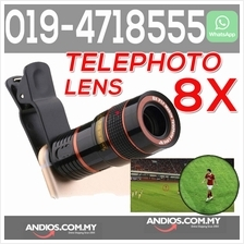 8X Zoom Phone Camera Telephoto Telescope Lens Clip Mobile Phone Handph