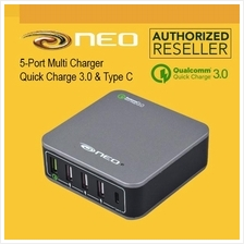 NEO Original Qualcomm 3.0 Quick Charger 5 Ports USB + Type C