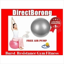 Burst Resistance Yoga Ball Gym Fitness Iron + FREE Pump