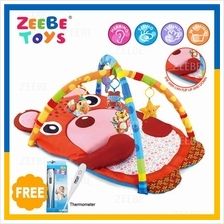 ZEEBE Large Baby Play Soft Gym Soft Mat Toy Travel Small Cow Design