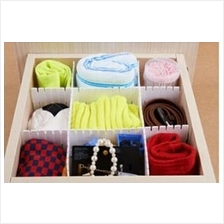 6cm 6pcs Plastic DIY Divider Drawer Storage Organizer