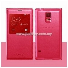Samsung Galaxy S5 OEM S-View Flip Cover - Pink