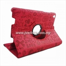 Xiaomi Mi Pad Rotating Cute Design Case - Red