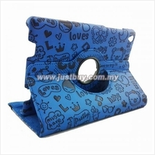 Xiaomi Mi Pad Rotating Cute Design Case - Blue