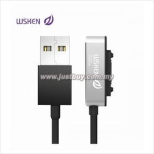 WSKEN Sony Magnetic Single Metal Fast Charging Cable - Silver