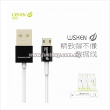 WSKEN Double Side Reverse Plug Fast Charging Micro USB Cable - Black