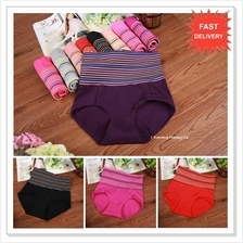 Colour Stripe High Waist Slimming Panty / Panties / Underwear