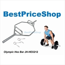 Olympic Cap Hex Bar Gym Squat Deadlifts Power Weightlifting Shrug Bars