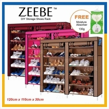 ZEEBE Home Korean 7 Tier Shoe Rack DIY Stackable Dust Cover Cabinet