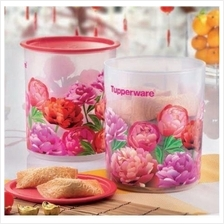 Tupperware Blooming Peonies One Touch Canister Medium (2) 3L
