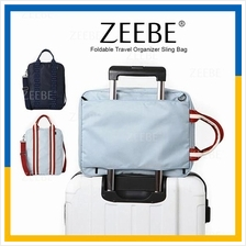 ZEEBE Korean Foldable Sling Bag Travel Kit Organizer Luggage Beg
