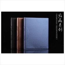 Deluxe Banknote/Coin Album LEATHER Modern 3-Ring Binder with Pages