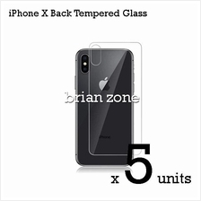 5 Units Premium Quality Back Tempered Glass for iPhone X