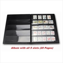 PCCB Postage Stamps Album (Black Base) 20pages