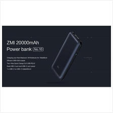 XIAOMI ZMI 20000mAh macbook mi notebook powerbank quickcharge 3.0