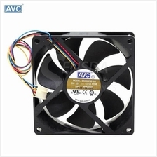 AVC DS09225B12H four-line dual ball bearing PWM thermostat cooling fan
