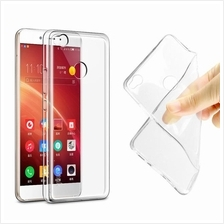 Perfect Slim Transparent Silicone Case for ZTE A520 FOC Tempered Glass