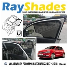VOLKSWAGEN POLO Hatchback 2017 RayShades UV Proof Magnetic Sun Shades