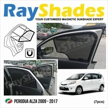 PERODUA ALZA 2009 - 2017 RayShades UV Proof Magnetic Sun Shades *7pcs