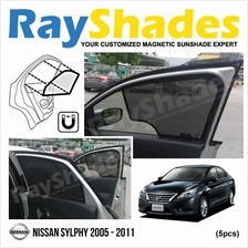 NISSAN SYLPHY 2005 - 2011 RayShades UV Proof Magnetic Sun Shades *5pcs