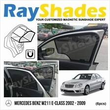 MERCEDES W211 2002 - 2009 RayShades UV Proof Magnetic Sun Shades *6pcs