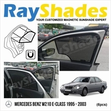 MERCEDES W210 1995 - 2003 RayShades UV Proof Magnetic Sun Shades *6pcs