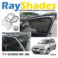 KIA CITRA RS 1999 - 2006 RayShades UV Proof Magnetic Sun Shades *7pcs