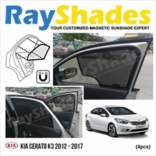 KIA CERATO K3 2012 - 2017 RayShades UV Proof Magnetic Sun Shades *4pcs