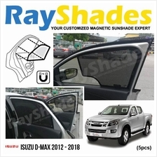 ISUZU D-MAX 2012 - 2018 RayShades UV Proof Magnetic Sun Shades *5pcs