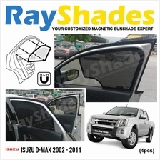 ISUZU D-MAX 2002 - 2011 RayShades UV Proof Magnetic Sun Shades *4pcs