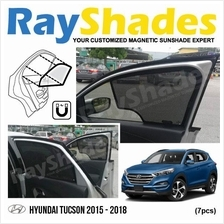 HYUNDAI TUCSON 2015-2018 RayShades UV Proof Magnetic Sun Shades *7pcs