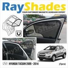 HYUNDAI TUCSON 2009-2014 RayShades UV Proof Magnetic Sun Shades *7pcs
