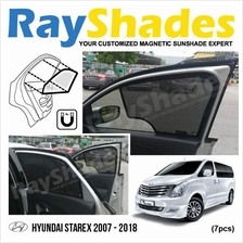 HYUNDAI STAREX 2007-2018 RayShades UV Proof Magnetic Sun Shades *7pcs