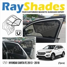 HYUNDAI SANTA FE 2013-18 RayShades UV Proof Magnetic Sun Shades *7pcs