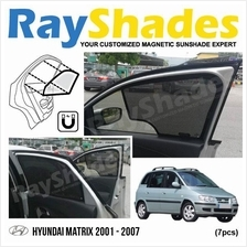 HYUNDAI MATRIX 2001-2007 RayShades UV Proof Magnetic Sun Shades *7pcs