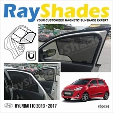 HYUNDAI I10 2013 - 2017 RayShades UV Proof Magnetic Sun Shades *6pcs