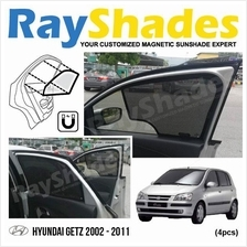 HYUNDAI GETZ 2002 - 2011 RayShades UV Proof Magnetic Sun Shades *4pcs