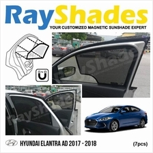 HYUNDAI ELANTRA AD 2017 RayShades UV Proof Magnetic Sun Shades *7pcs