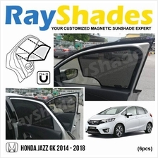 HONDA JAZZ GK 2014 - 2018 RayShades UV Proof Magnetic Sun Shades *6pcs