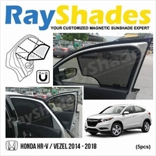 HONDA HRV 2014 - 2018 RayShades UV Proof Magnetic Sun Shades *5pcs