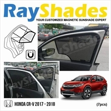 HONDA CRV 2017 - 2018 RayShades UV Proof Magnetic Sun Shades *7pcs