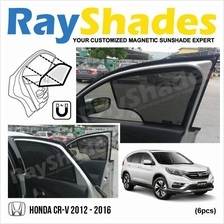 HONDA CRV 2012 - 2016 RayShades UV Proof Magnetic Sun Shades *6pcs