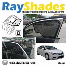 HONDA CIVIC FD 2006-2011 RayShades UV Proof Magnetic Sun Shades *5pcs