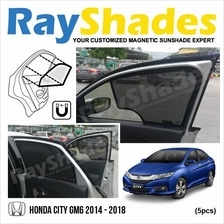 HONDA CITY GM6 2014-2018 RayShades UV Proof Magnetic Sun Shades *5pcs
