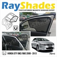 HONDA CITY 2008 - 2013 RayShades UV Proof Magnetic Sun Shades *4pcs