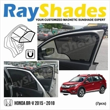 HONDA BR-V 2015 - 2017 RayShades UV Proof Magnetic Sun Shades *7pcs